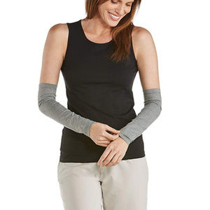 Coolibar UPF 50+ Sun Sleeves Size XS Heather Grey